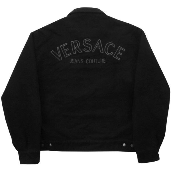 Vintage Versace Jeans Couture Jacket Size Large Grubby Mits ($195) ❤ liked on Polyvore featuring outerwear, jackets, cotton jacket, vintage jackets, embroidered jacket and versace jeans couture