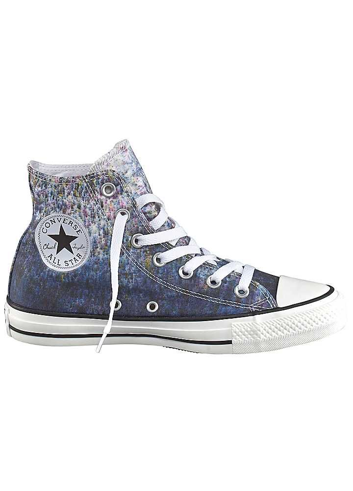 Converse 'All Star Hi' Sneakers in blue with intricate pattern #Freemans
