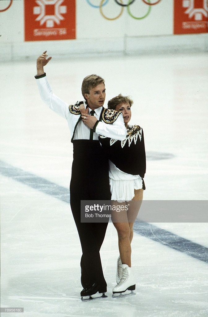 Sport, 1984 Winter Olympic Games, Sarajevo, Yugoslavia,Ice Skating, Ice Dance, Jayne Torvill and Christopher Dean, Great Britain, the Gold medal winners