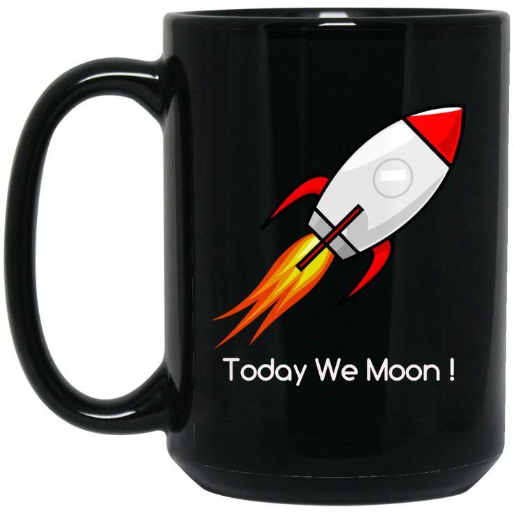 BM15OZ 15 oz. Black Mug / Today We Moon ! Mugs, Black