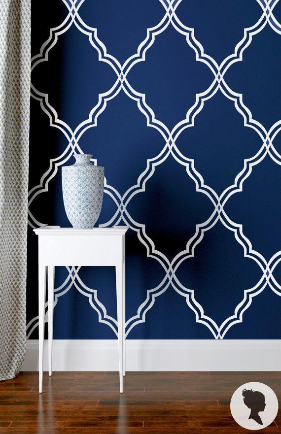 SALE 20% Self Adhesive Moroccan Pattern Removable Wallpaper Z029