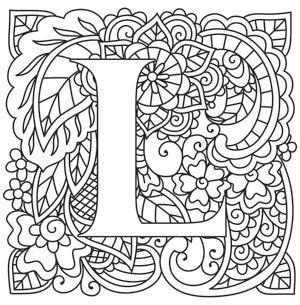 Mendhika Letter L Design UTH10948 From UrbanThreads