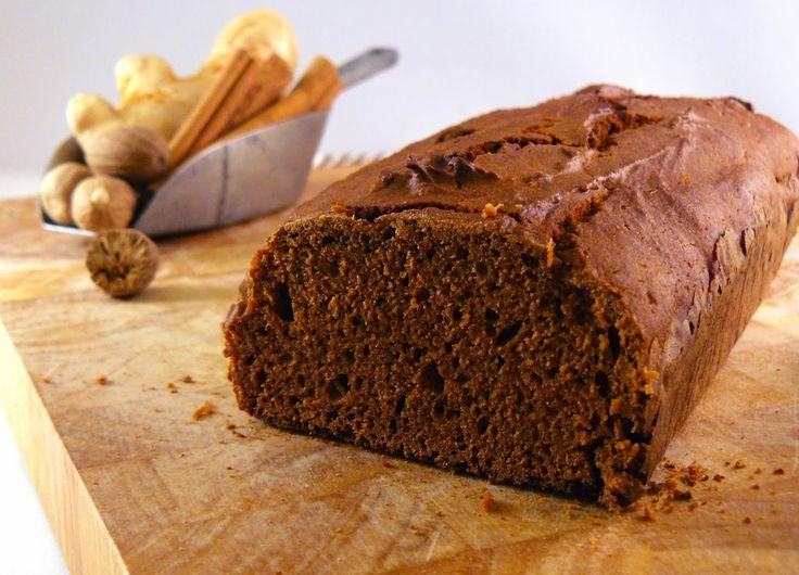 Gezonde ontbijtkoek, peperkoek, of kruidkoek met natuurlijke suikers