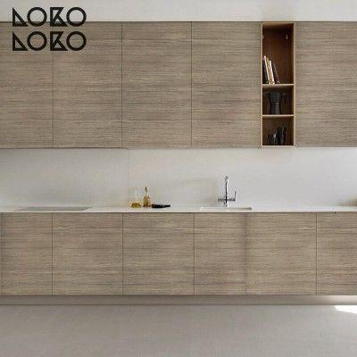 Vinilo de imitación de madera nórdica para forrar armarios de cocina