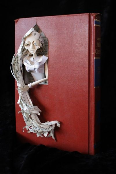 """Rapunzel"" book sculpture - artist: Jodi Harvey-Brown"