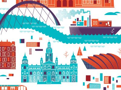 Glasgow Map  by Brent Couchman #dribbble