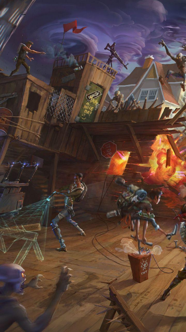 Battle Fortnite Game 720x1280 Wallpaper Free Wallpaper Backgrounds Background Hd Wallpaper World Of Warcraft Wallpaper