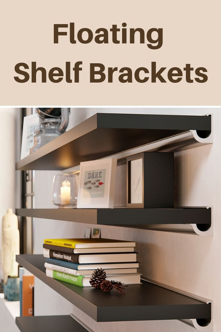 Small Minimalist Floating Shelf Bracket Floating Shelf Brackets Floating Shelves Shelf Brackets
