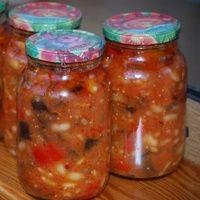 Салат из баклажанов с фасолью на зиму - Как приготовим