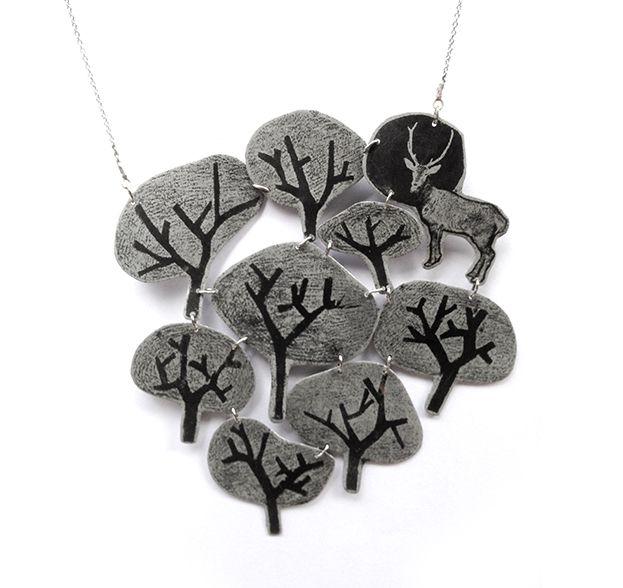 Dans le bois necklace #zincplates #adreamtowear
