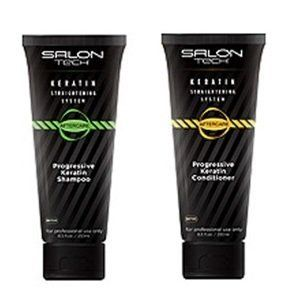 Salon Tech Keratin Straightening System Progressive Keratin Shampoo & Conditioner 8.5 oz Duo Set by Salon Tech. $29.99. Salon Tech Progressive Keratin Shampoo 250ml - Progressive Keratin Shampoo is a specially designed formula that allows Keratin to deeply penetrate and moisturize hair cuticles. This neutral base shampoo gently washes away impurities while prolonging the life of the treatment.   Salon Tech Progressive Keratin Conditioner 250ml - Progressive Keratin ...