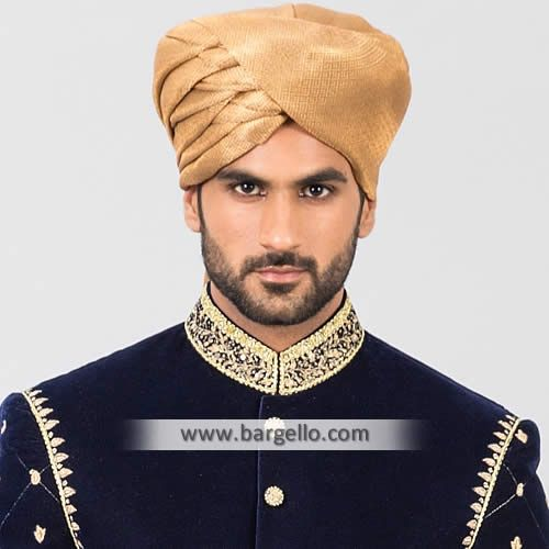 Charming Look Jamawar Turban for Wedding Artesia California CA USA Pakistani Wedding Turbans T843 Turban