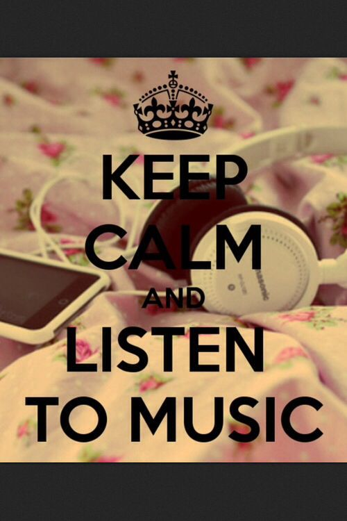 Keep calm and listen to music tumblr hipster indie | Q u o ...
