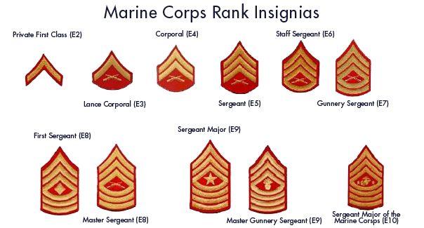 Marine Corps Ranks | Marine Corps Recruit