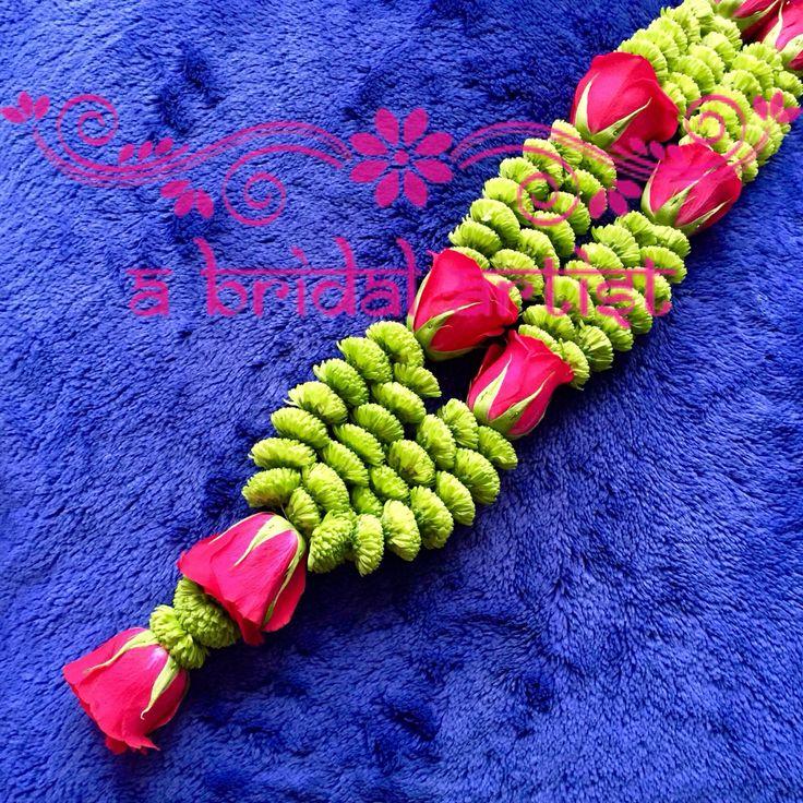 Exquisite designer wedding garland (jaimala / haar / varmala) made from fresh flowers. To place your order call 07872 482730.