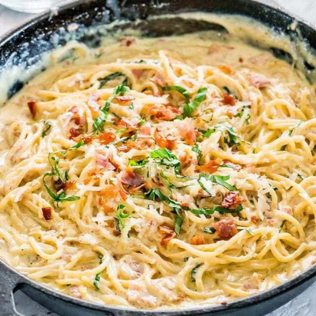 Creamy Carbonara Hug Foods Creamy Pasta Recipes Cooking Recipes Carbonara Recipe Creamy