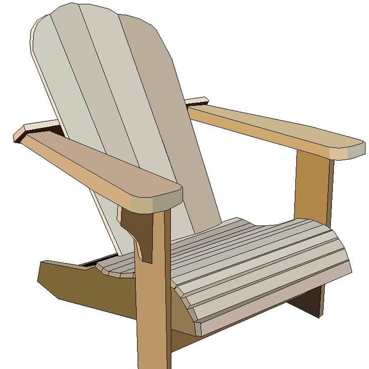 Adirondack aka Cape Cod chair ($5 value plans)