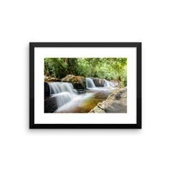Paradise waterfall - Framed poster