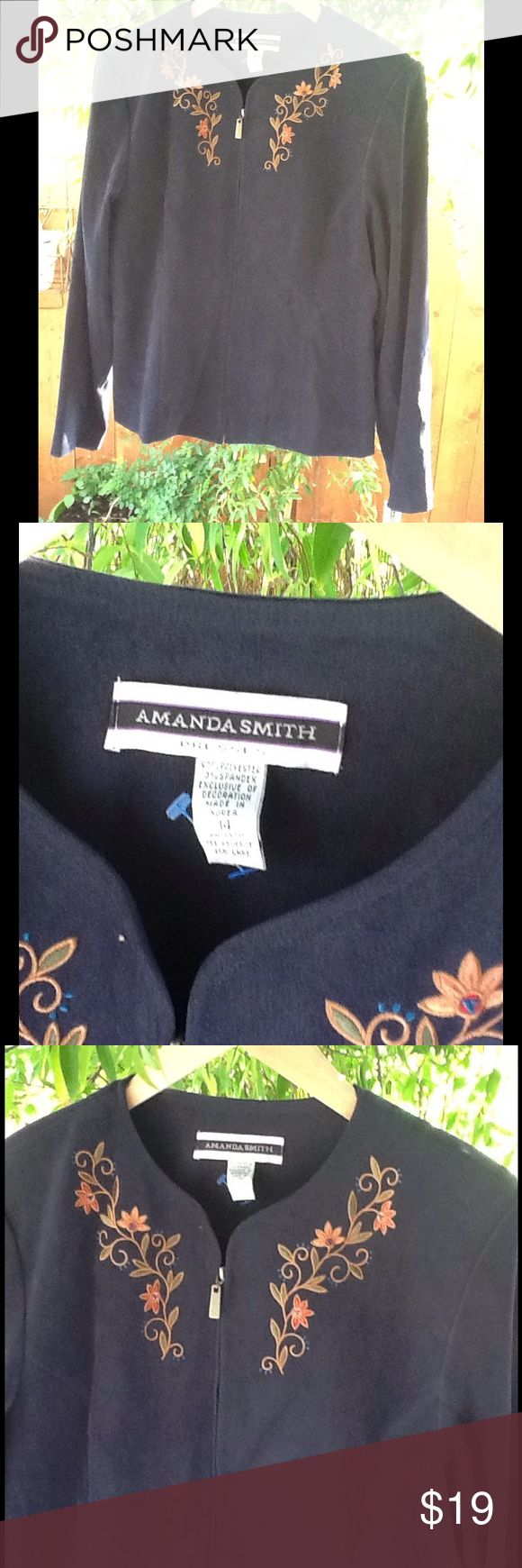 Women's Blazer Size 14 Large Sale Career Soft to the touch, velvet feel blazer. Perfect year round piece. Match with skinny jeans , skirt or high waist trousers. Amanda Smith Jackets & Coats Blazers