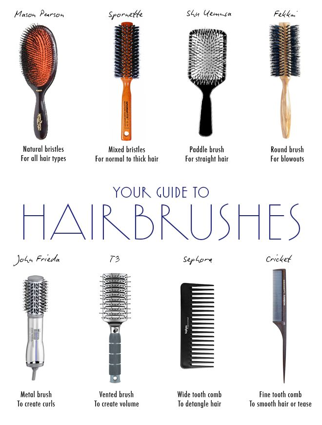 The Best Brushes For Every Hair Type  Different types of