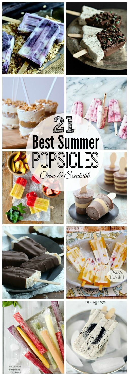21 of the best summer popsicle recipes! These look so good! // cleanandscentsible.com