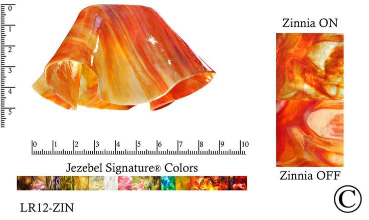 "Jezebel Signature® Small Lily Zinnia Glass Pendant Replacement Glass Shade, 1 5/8"" hole"