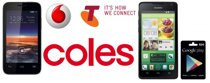 Good Deals: Get the Telstra Huawei Y530 + $20 Google Play Gift Card for $99 or the Vodafone Smart 4 Mini 3G for $49.  This week's Coles catalogue has a couple of Android specials available to purchase from today.  The mobiles available are the Telstra prepaid Huawei Y530 that comes with a bonus $20 Google Play gift card and the Vodafone Prepaid Smart 4 Mini 3G that, according to the Vodafone website, [READ MORE HERE]