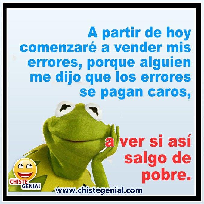 Chistes cortos - A partir de hoy comenzaré a vender mis errores #chistes #humor #chistegenial
