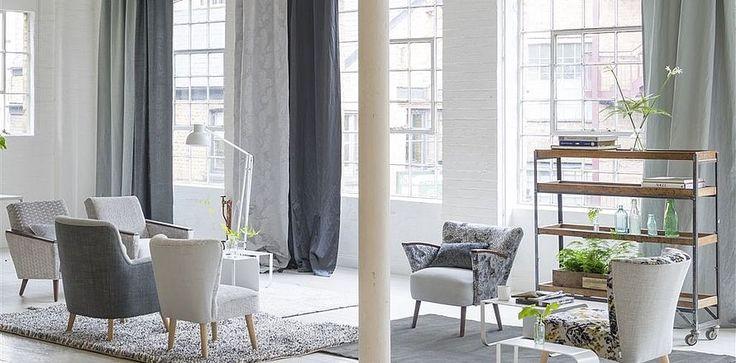Designers Guild, design Grey Cloth. Se alle brands her: http://fischer-danmark.dk/produkter/gardiner/