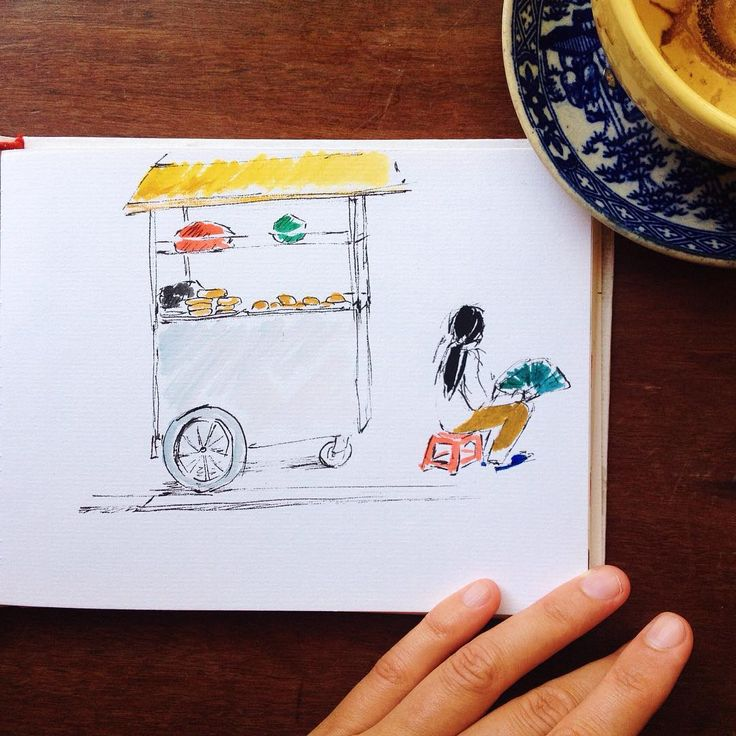 in Hoi An #vietnamese #drawing #watercolor