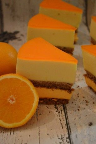 Sinaasappel bavaroise taart - Lekker tafelen.nl !