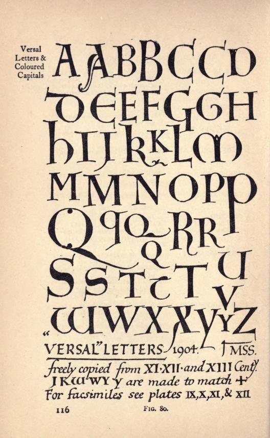 Writing & illuminating, & lettering