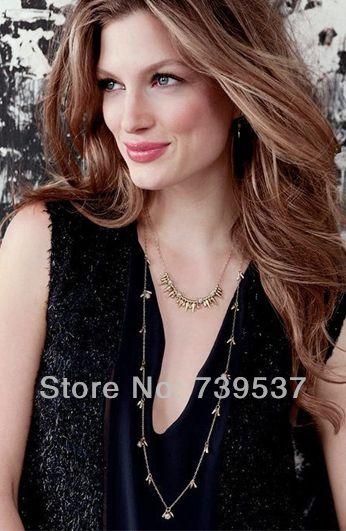 Летняя Мода Женщины Длинные Тонкие Позолоченные Цепи Ожерелье