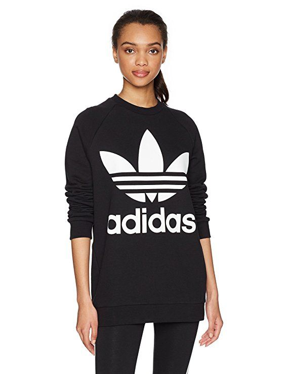 fb8726d5b4504 adidas Originals Women's Oversized Trefoil Sweater [Amazon.com ...