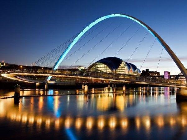 The Gateshead Millenium Bridge-- Newcastle, England
