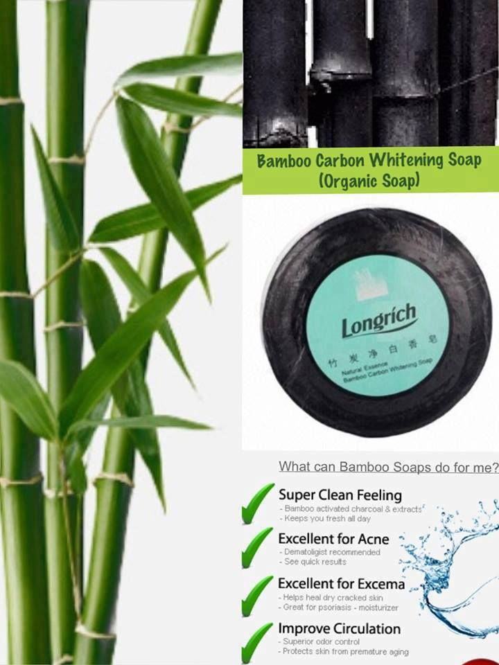 Be Healthy always Longrich: Bamboo Charcoal Whitening Soap