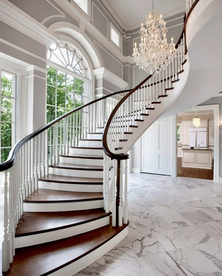 Can You Put The Crystal Chandelier In Foyer Of A Loft Floating Staircase Curved