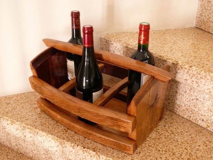 A safe place for your wine! Six bottle wine barrel basket