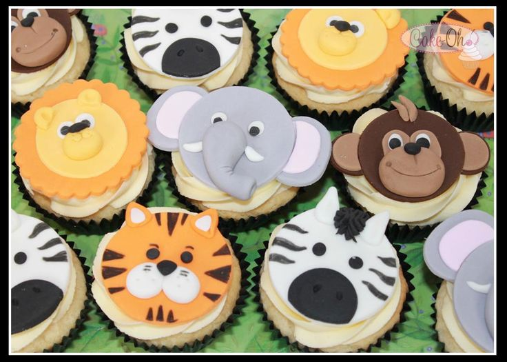 Jungle Cupcakes - gorgeous for a baby shower or a birthday celebration