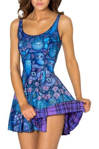 Tartan Purple Vs Midnight Owl Inside Out Dress - LIMITED (PRESALE)