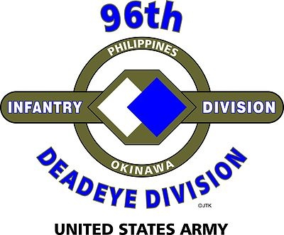 "96th Infantry Division ""Deadeye Division"" United States Army Shirt"