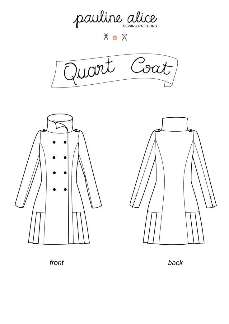 Patron du manteau Quart - Pauline Alice- Couture