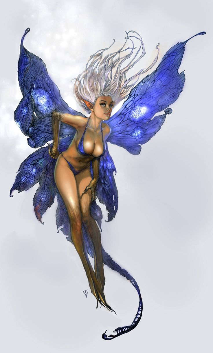 Shes a little too sexy for a fairy but I just Lover her wings! Fairy 2 by Den3221.deviantart.com