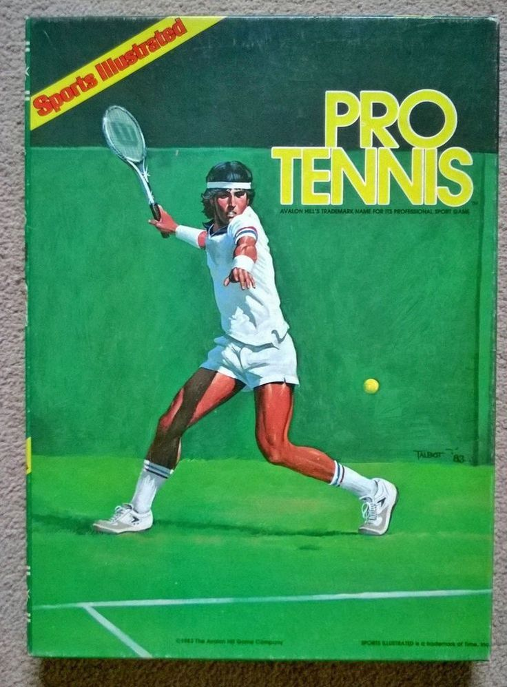 Sports Illustrated Pro Tennis boardgame by Avalon Hill Games Company 1983