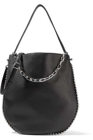 Alexander Wang - Roxy Studded Textured-leather Shoulder Bag - Black
