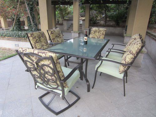 amazon teak outdoor dining set. 7pc aluminum patio dining set by pebble lane living, http://www. amazon teak outdoor