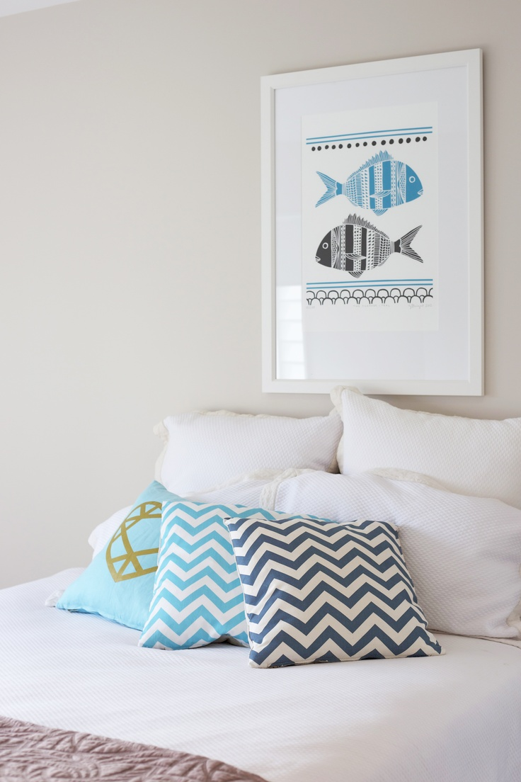 Set the scene with Greg Straight #art print #Endemicworld. Cushions #lorna love #collected. Bedside lamp #freedomfurniture. All other items gathered from within the home to create an #inviting bedroom
