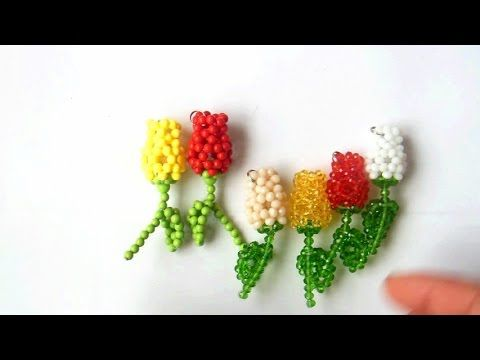 How to bead plant acceceroy: rose pattern2 - YouTube