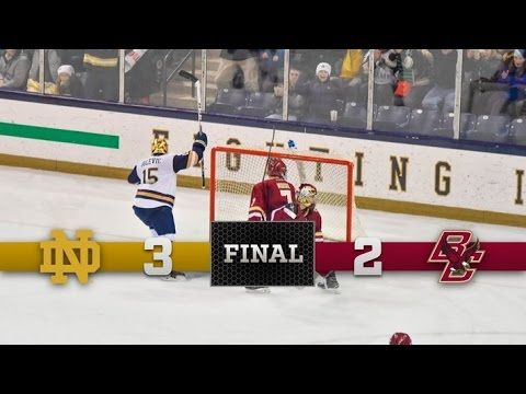 Notre Dame Hockey Highlights vs. Boston College