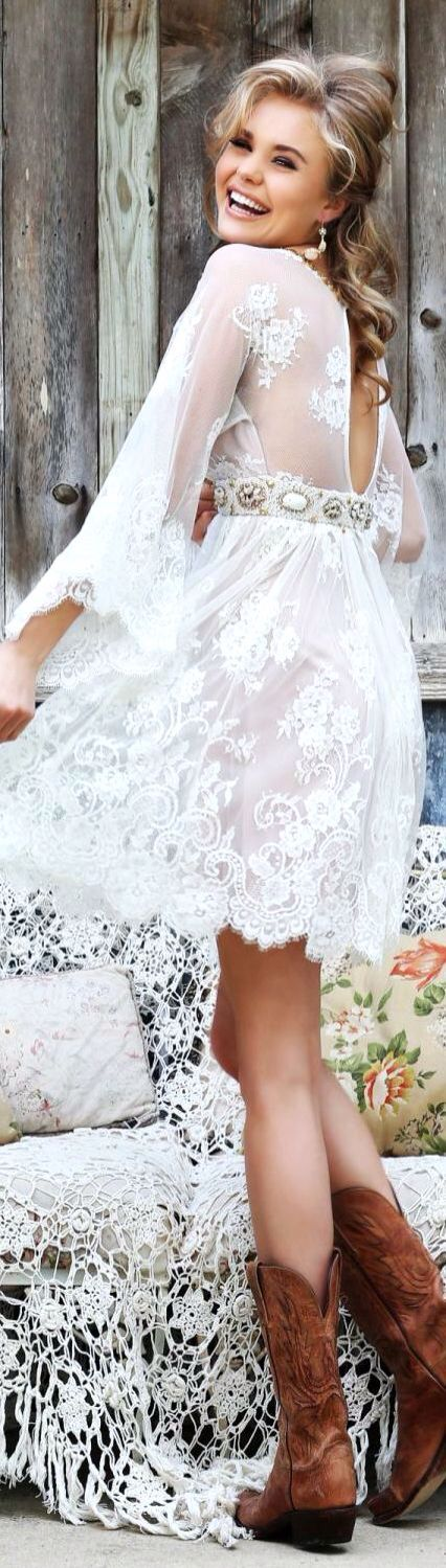 25 best ideas about western dress with boots on pinterest for Western wedding dresses with boots